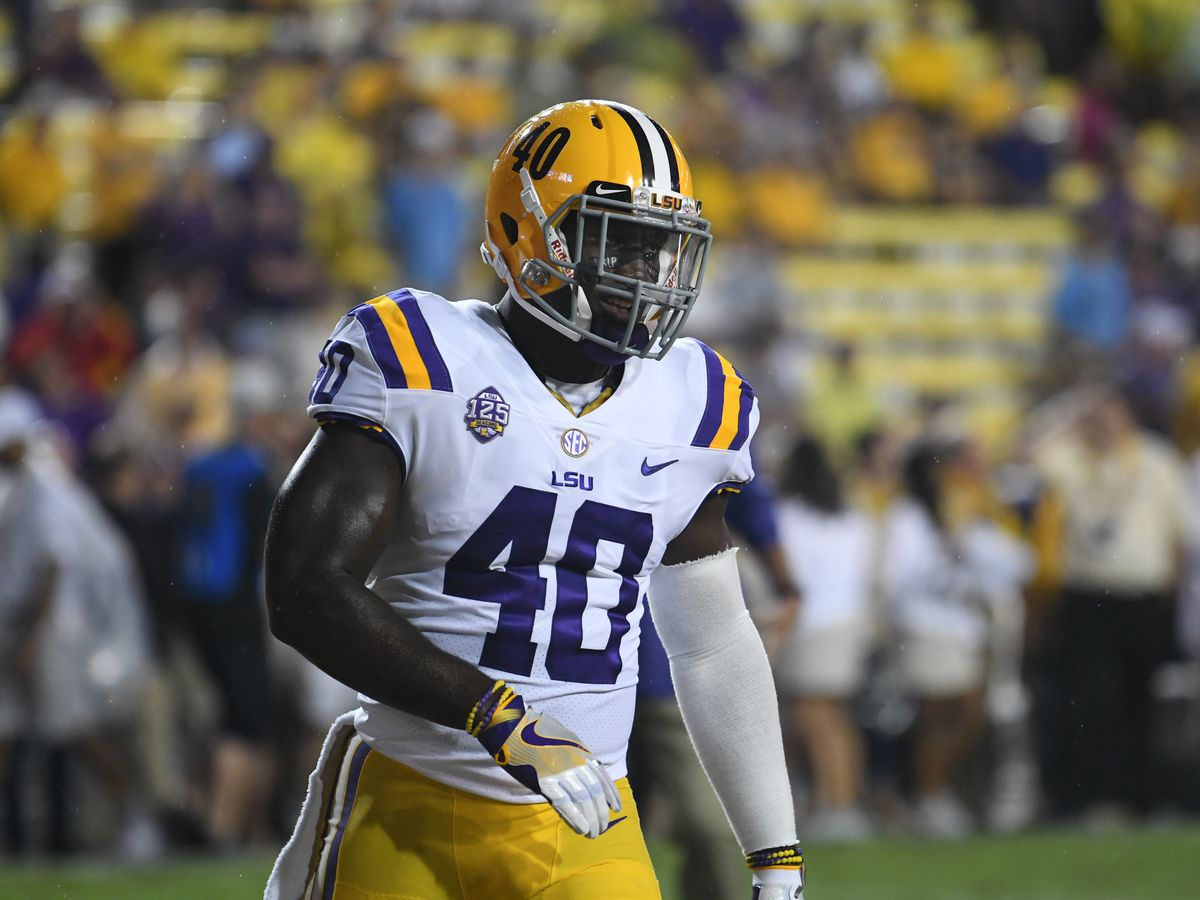 SEC statement: LSU LB Devin White to sit out first half of Alabama matchup following ejection