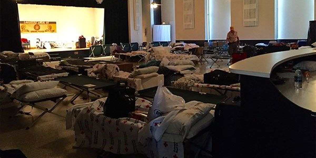 Union hall serves as emergency shelter for volunteers