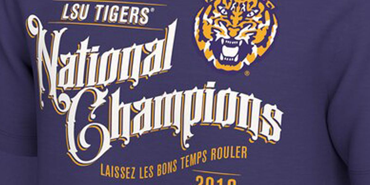 Here's where you can buy LSU National Champions gear
