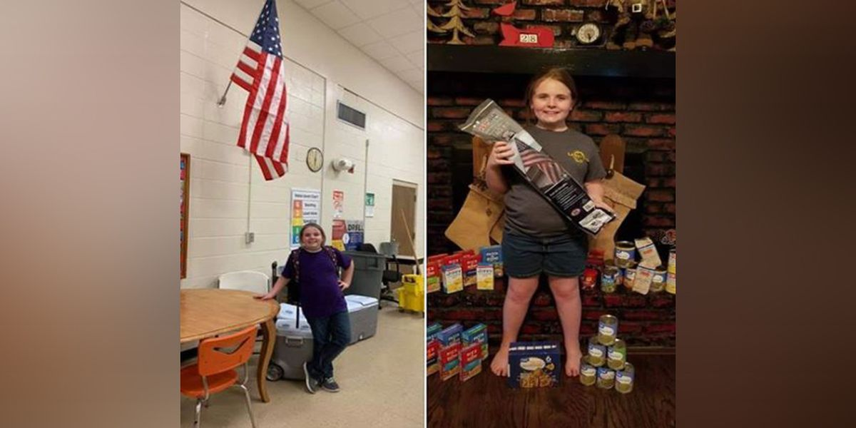 Baton Rouge Girl Scout buys American flag for her school after starting fundraiser