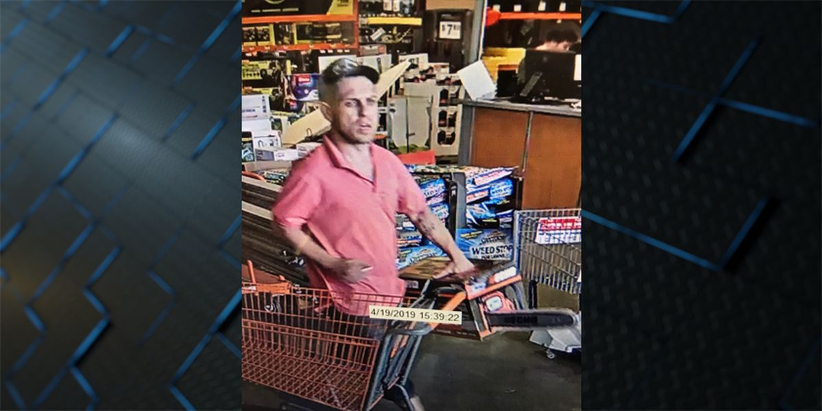 Man sought for theft at Home Depot in Baton Rouge