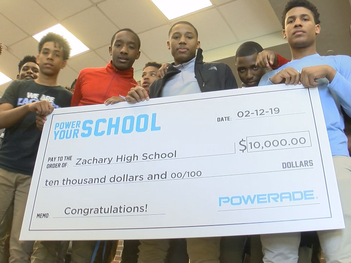 Zachary High receives $10k grant for its basketball program