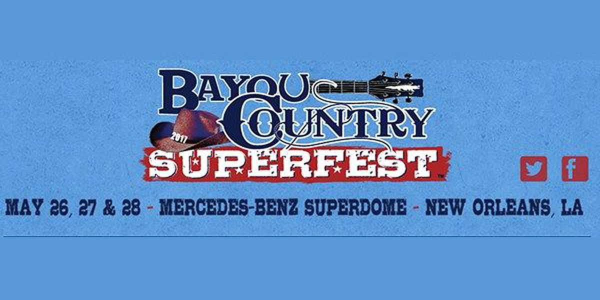 Bayou Country Superfest announces lineup for 2017