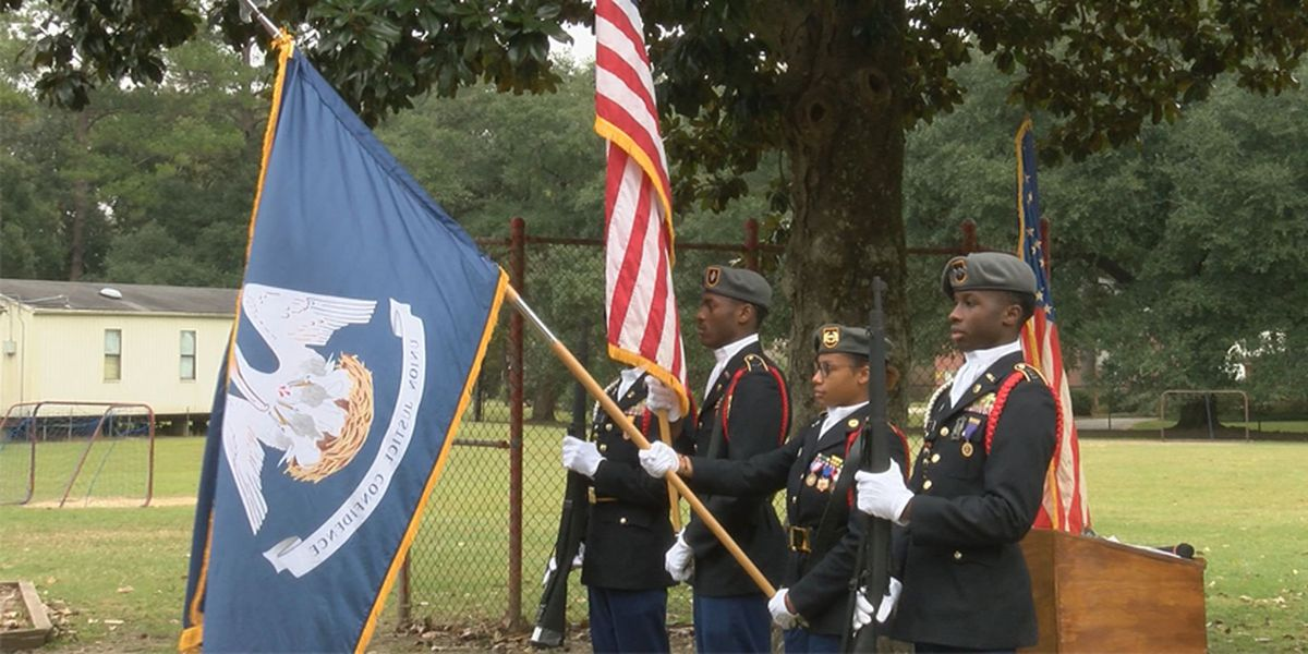 Highland Elementary ceremony honors fallen Louisiana WWII soldiers