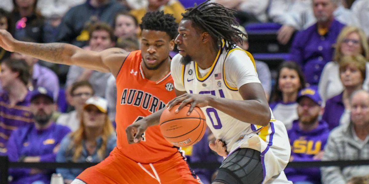 No. 21 LSU basketball muscles its way to 83-78 win over Auburn
