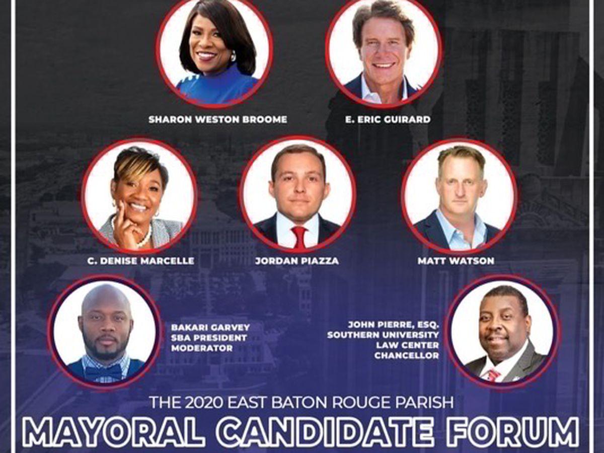EBR mayoral candidates debate at SU Law forum
