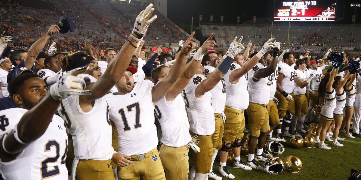 AP Top 25: Notre Dame into top 5; Texas top 10; 8 SEC teams