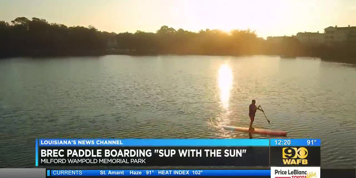 BREC offers stand up paddleboarding events at sunrise