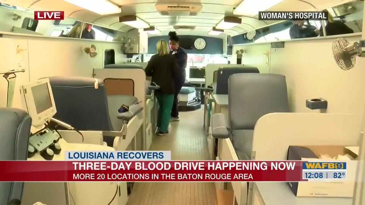 WAFB and OLOL 3 day blood drive