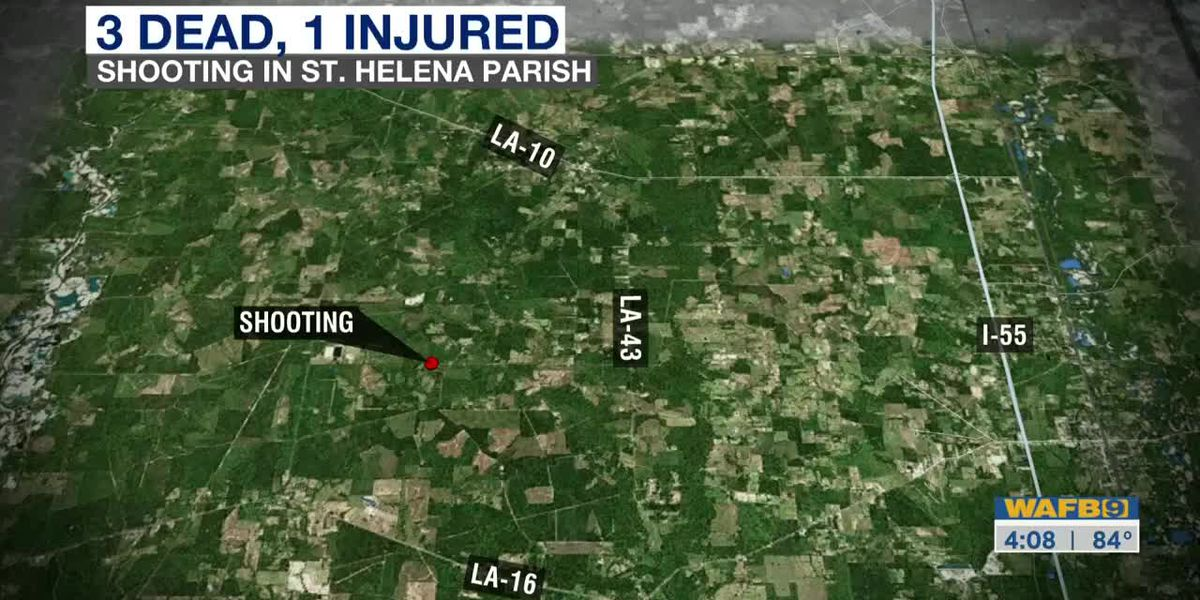 Sheriff: 3 dead, 1 injured in shooting in St. Helena Parish