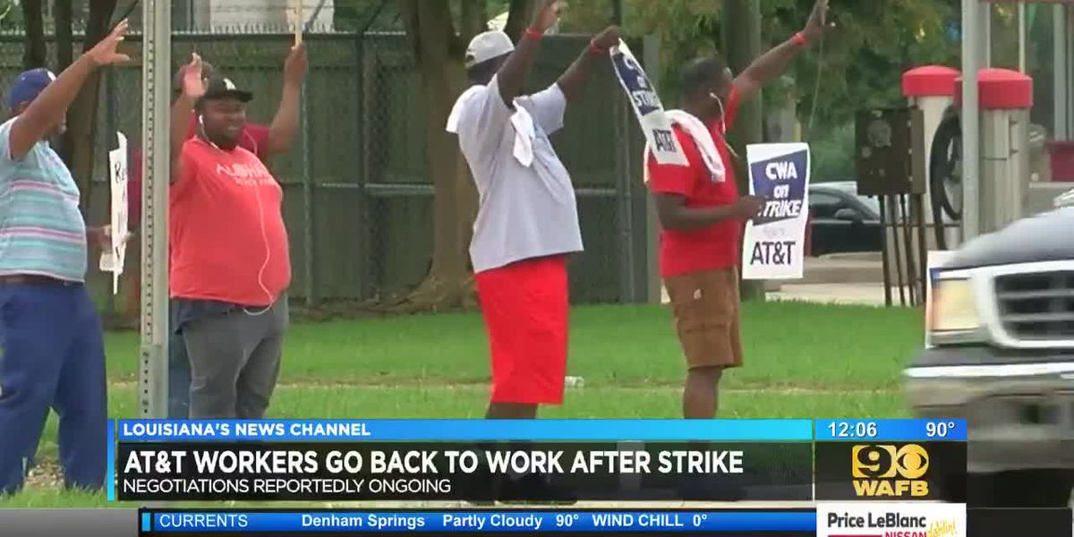 AT&T workers go back to work after strike ends