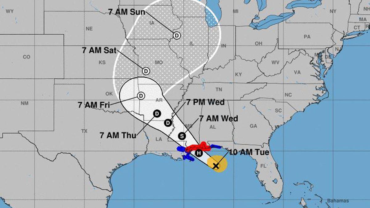 Tropical Storm Gordon heads for Gulf Coast