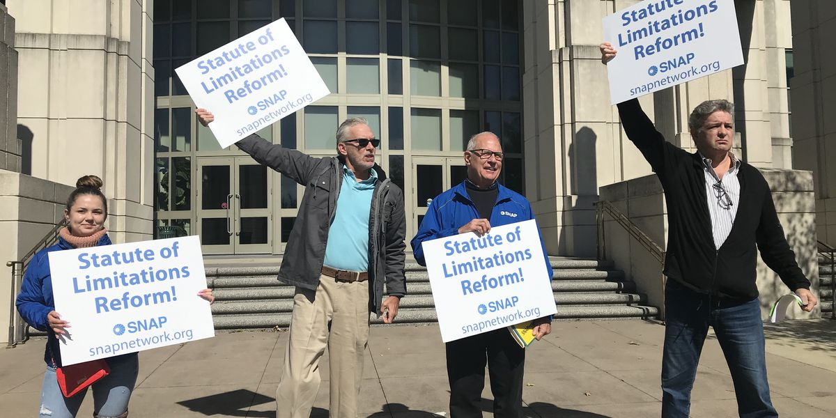 Advocates rally for change to statute of limitations laws for victims of sexual abuse, investigation into abuse by Catholic priests