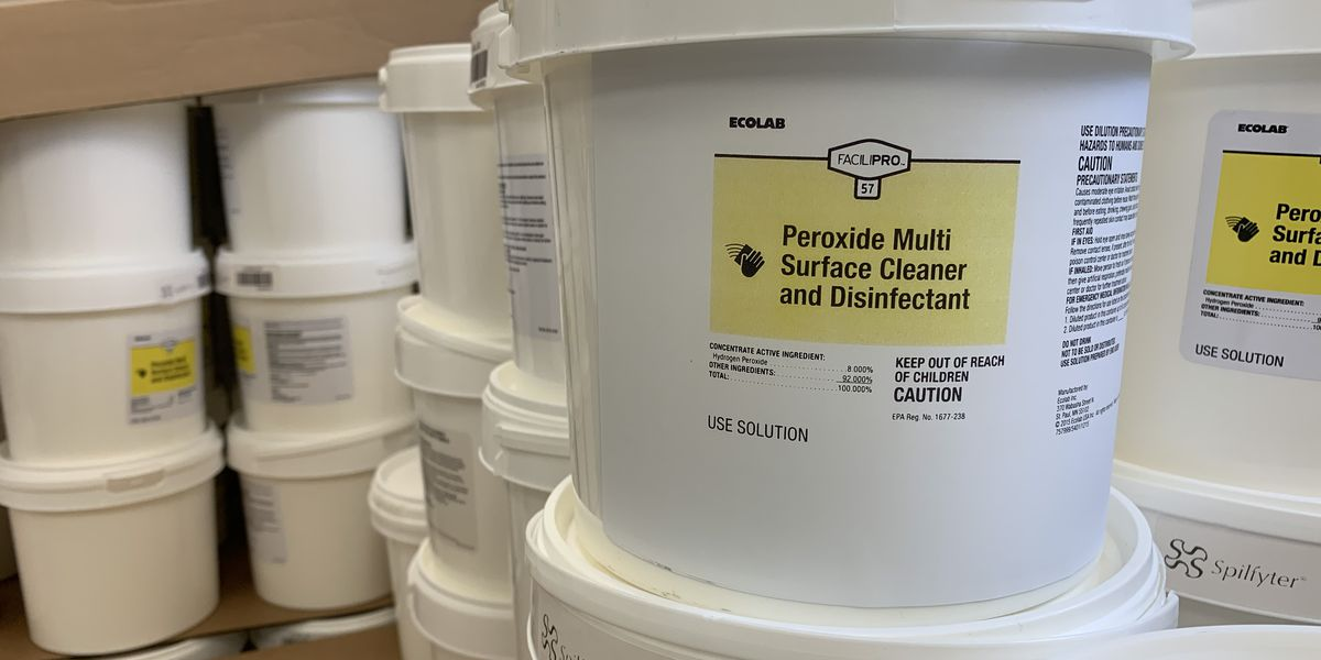 LSU creating its own disinfectant wipes with chemical recommended by CDC