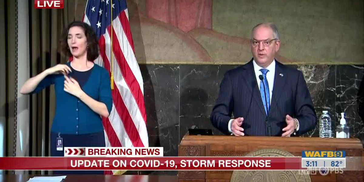 Gov. Edwards holds news conference on state's rise in COVID-19 cases Friday, Nov. 13, 2020