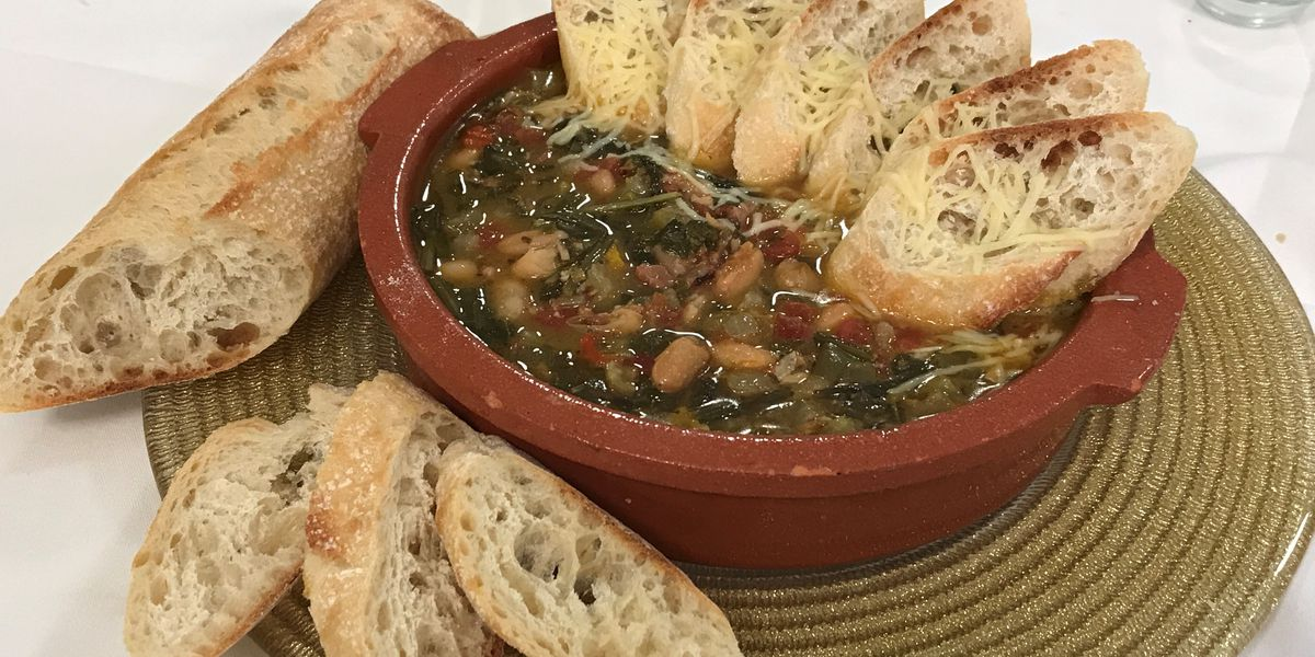 White beans, greens and hock stew