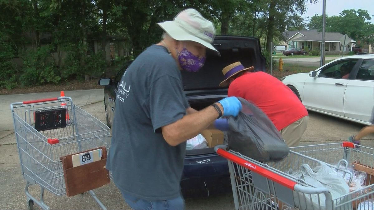 Volunteer-staffed Zachary Food Pantry serves double the clients despite fewer team members