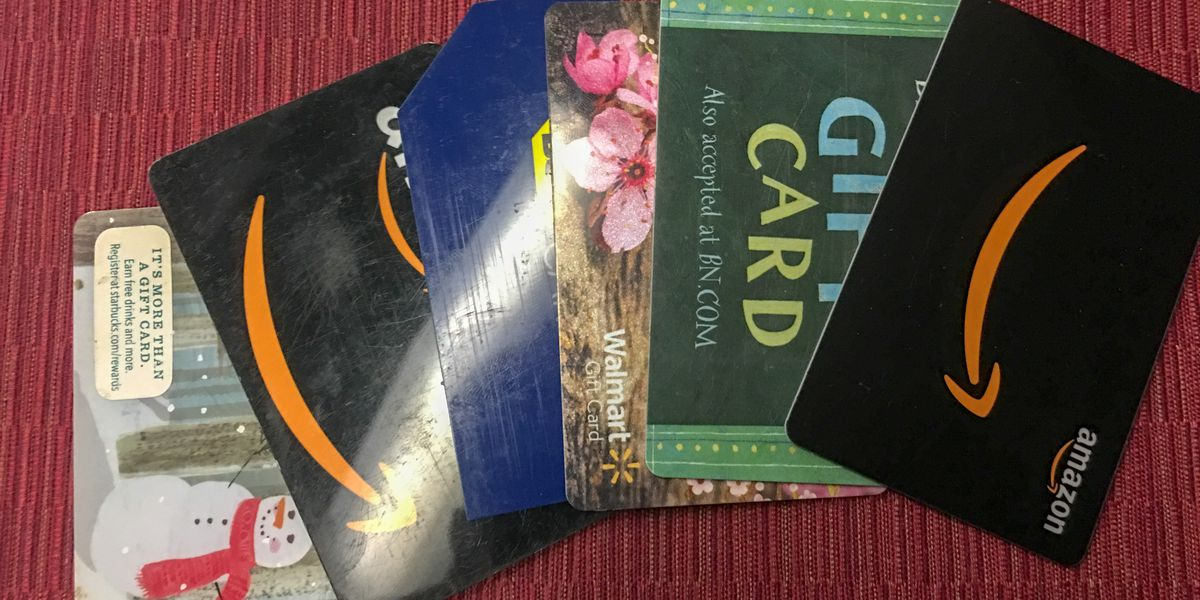 Consumers warned to be careful when buying gift cards
