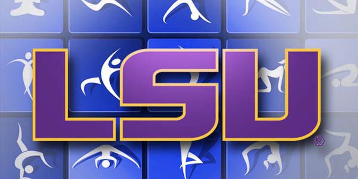 No. 5 LSU upsets No. 1 Oklahoma, 196.950-196.725, in front of record crowd