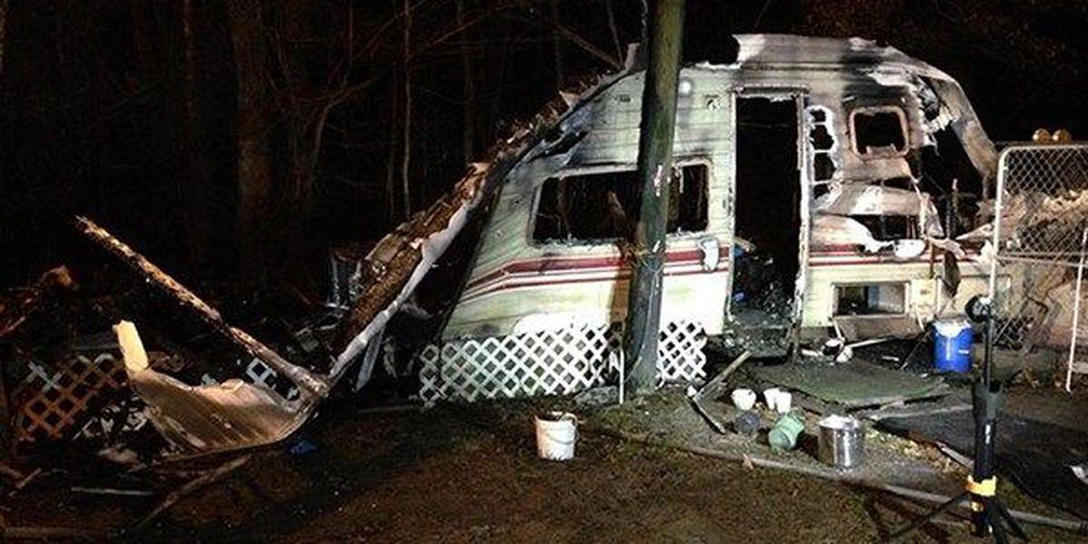 Man found dead inside travel trailer destroyed by fire in Hammond