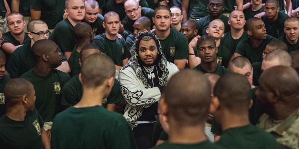 Baton Rouge rapper Kevin Gates visits Louisiana Youth Challenge Program