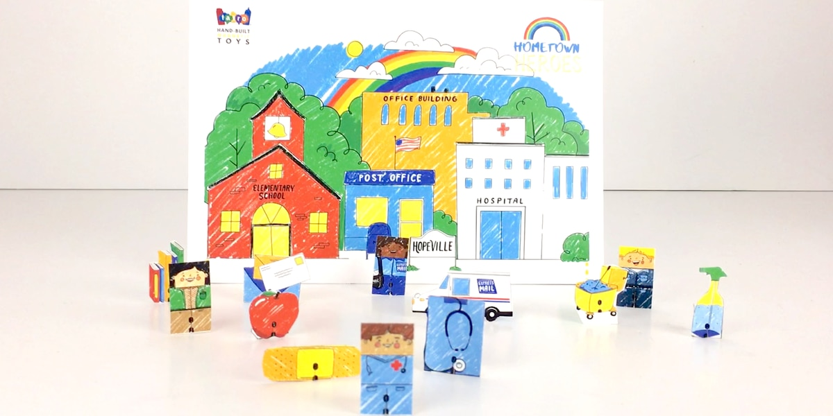 Local toy company launches a 'Hometown Heroes' paper playset