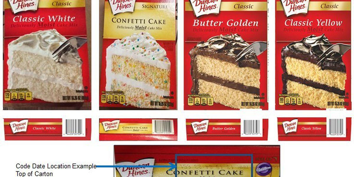Duncan Hines cake mixes recalled