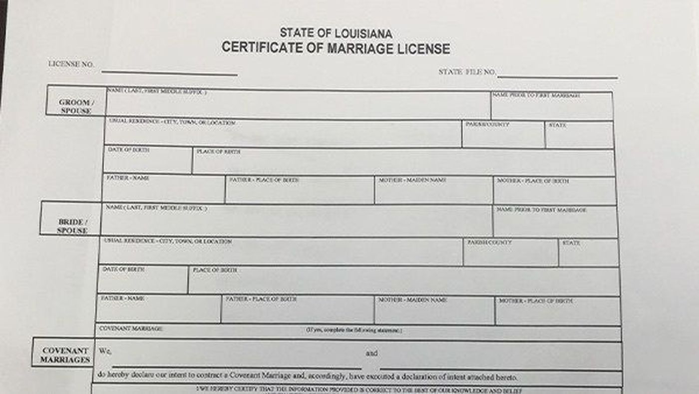 same sex marriage license in parker in Griffith