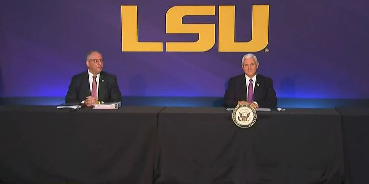 VIDEO: Vice President Mike Pence visits Baton Rouge to meet with state officials