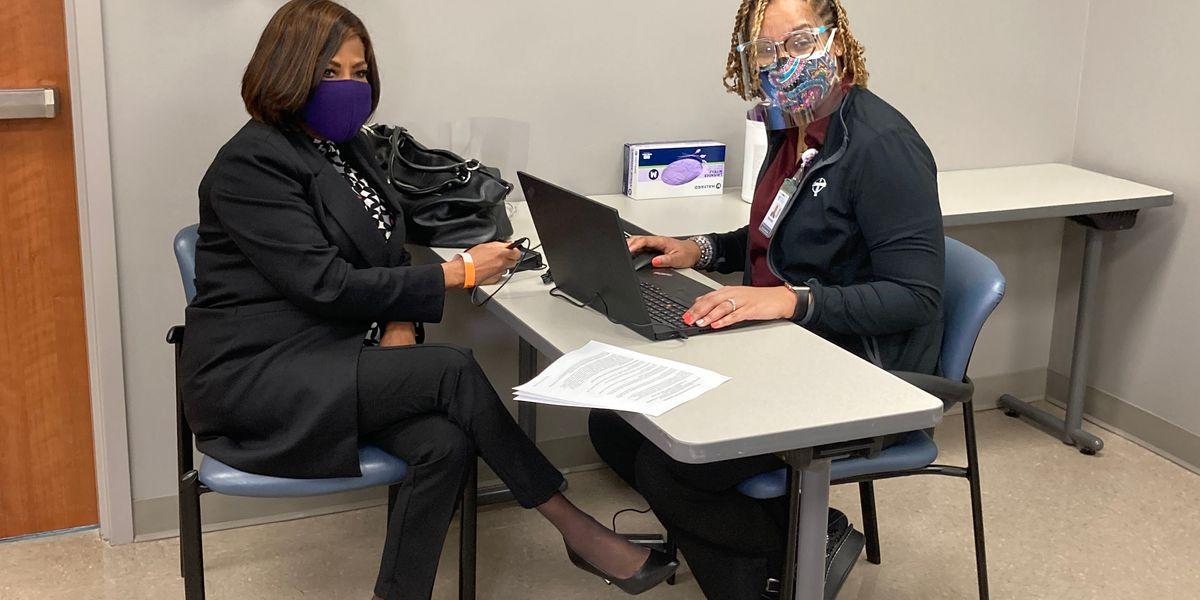 Mayor Broome receives first dose of coronavirus vaccine