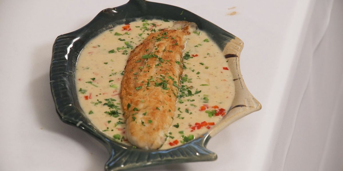 Fillet of Speckled Trout Prince Murat