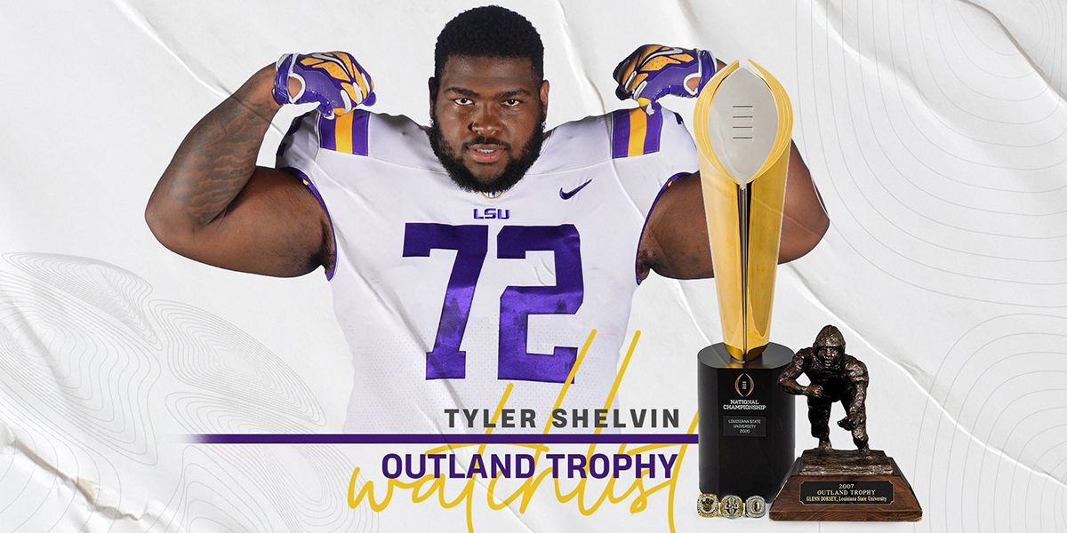LSU's Shelvin named to Outland Trophy watch list