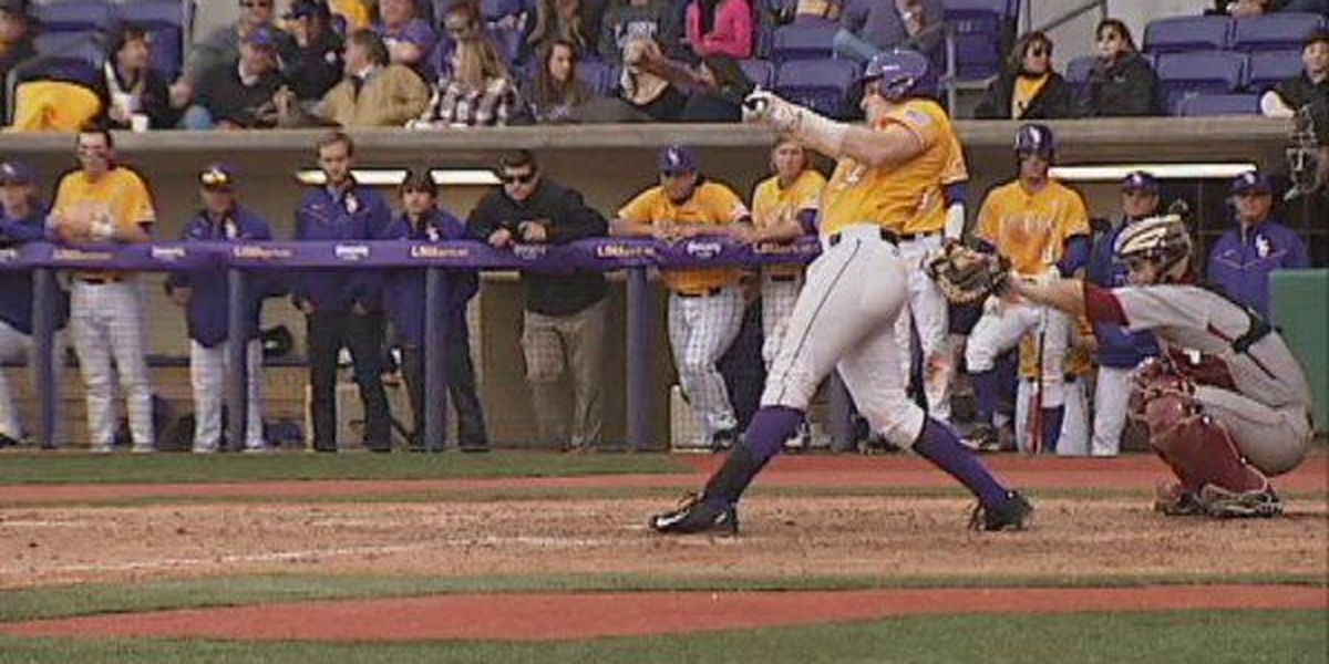 LSU sweeps doubleheader against Boston College