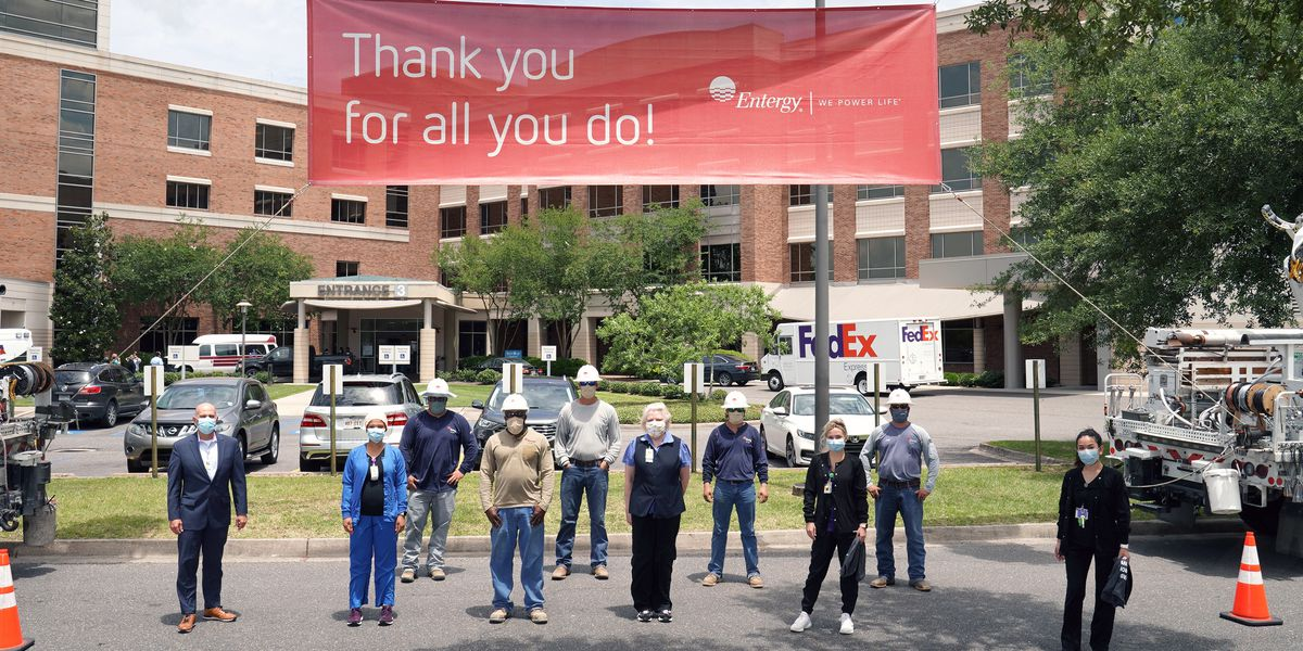 Entergy thanks healthcare workers at Baton Rouge General