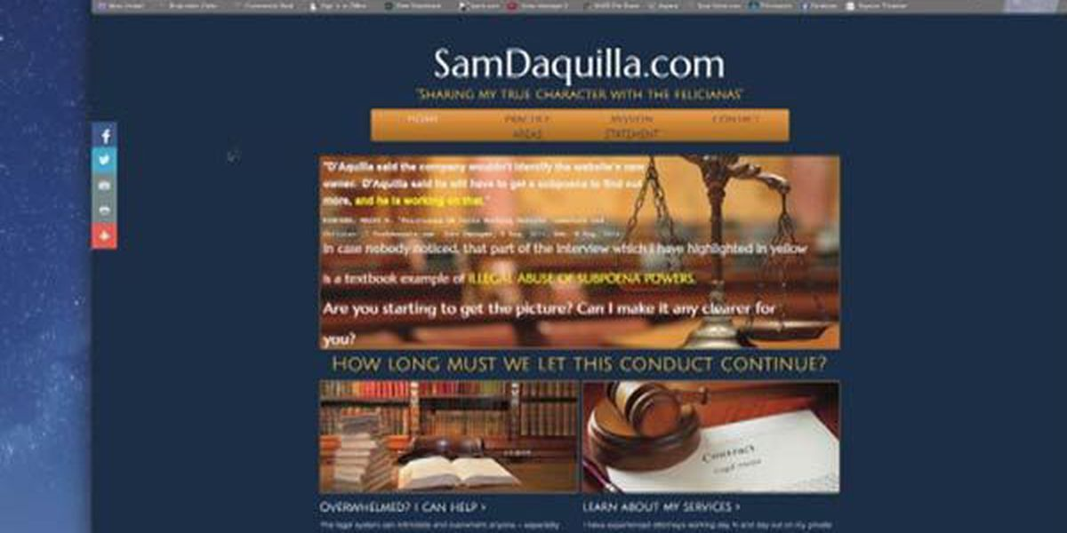 Controversial website targets District Attorney Sam D'Aquilla
