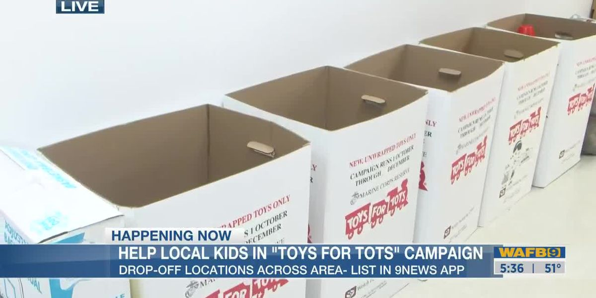 Donate new, unwrapped to Toys for Tots-5:30am