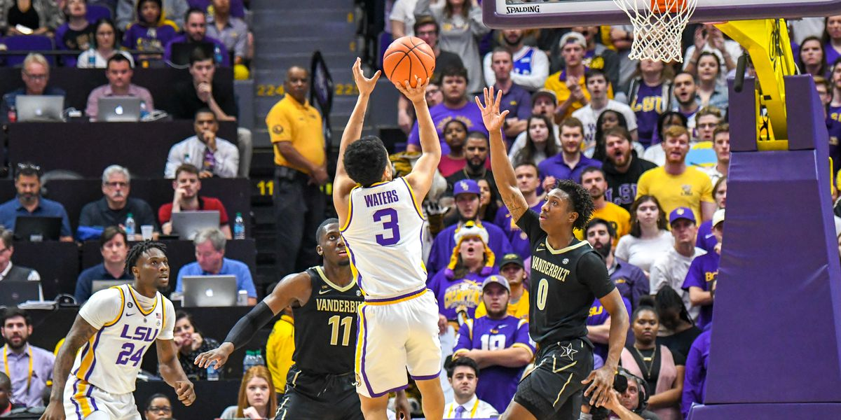 No. 10 LSU basketball wins regular season SEC title with 80-59 victory over Vanderbilt