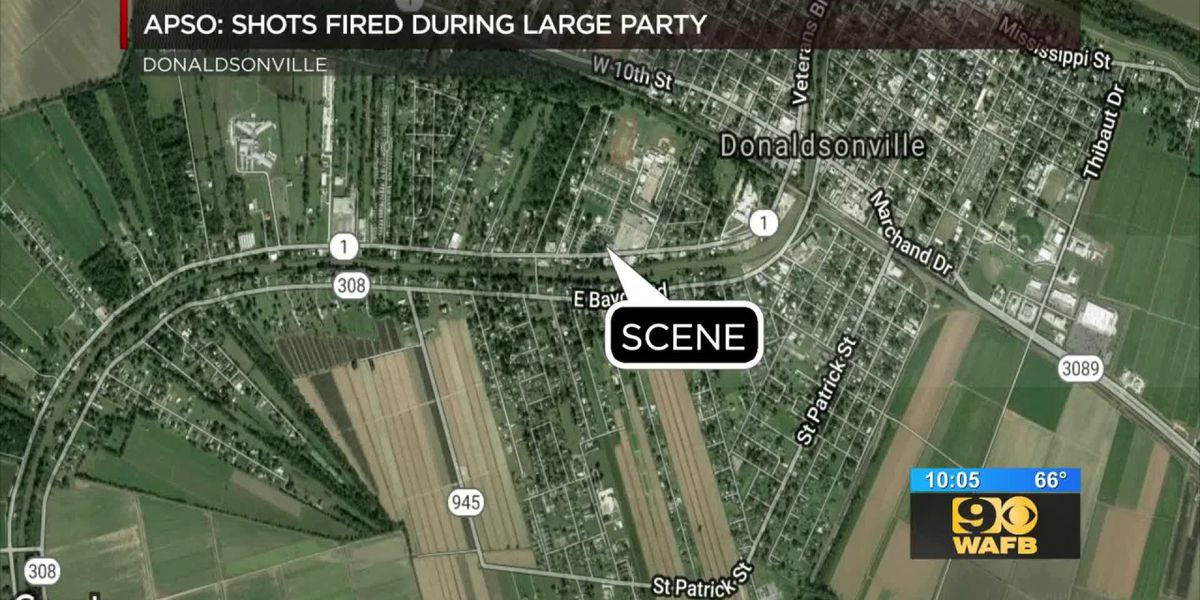 3 arrests made after three injured in shooting at party in Donaldsonville