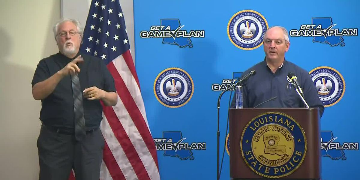 Gov. Edwards holds press conference on Hurricane Sally - Tuesday, Sept. 15