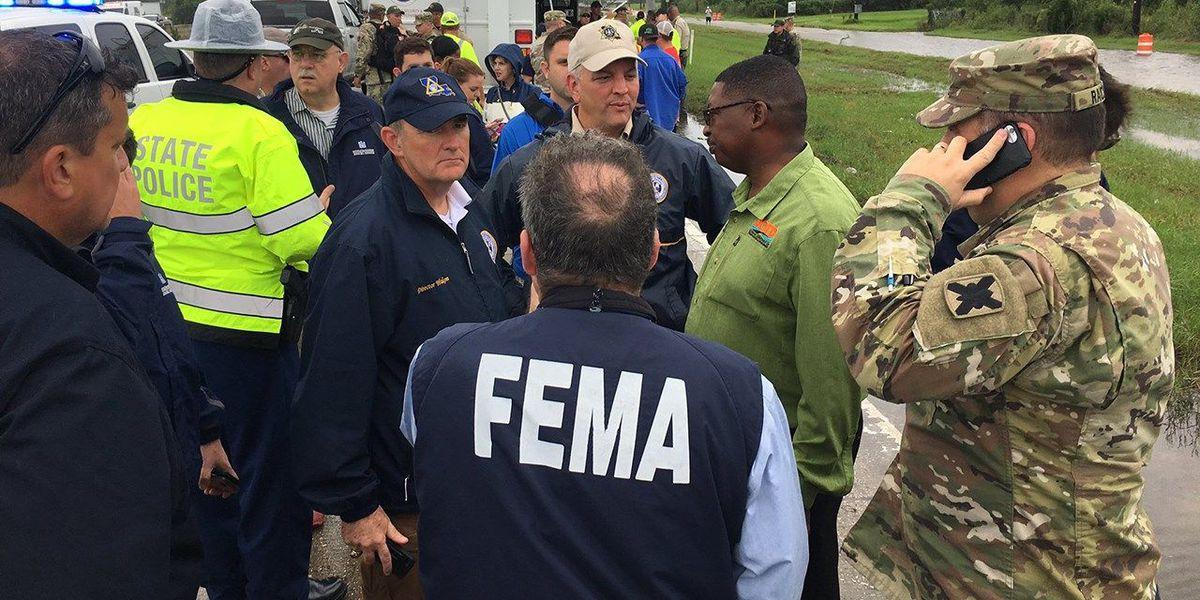 Gov. Edwards travels to southwest La. to monitor TS Harvey operations