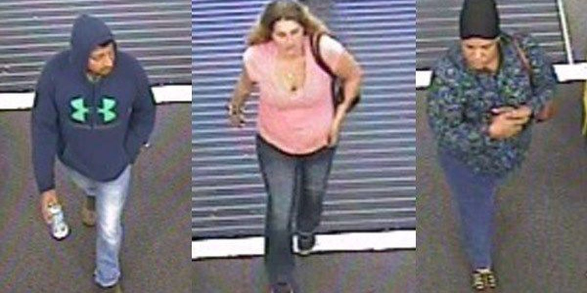 Police searching for 3 suspects accused of spending $620 with stolen credit card