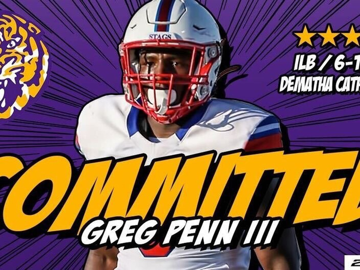 HOLD THAT TIGER! LSU picks up commitment No. 16 from 4-star LB Greg Penn