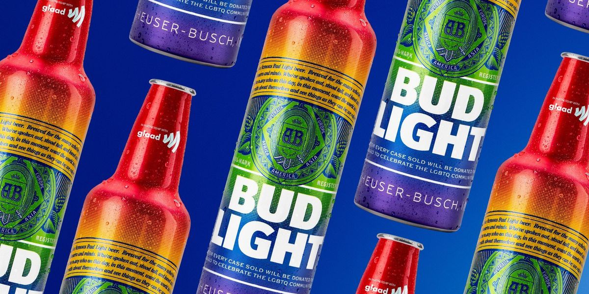 Bud Light rolls out rainbow-colored bottles for World Pride