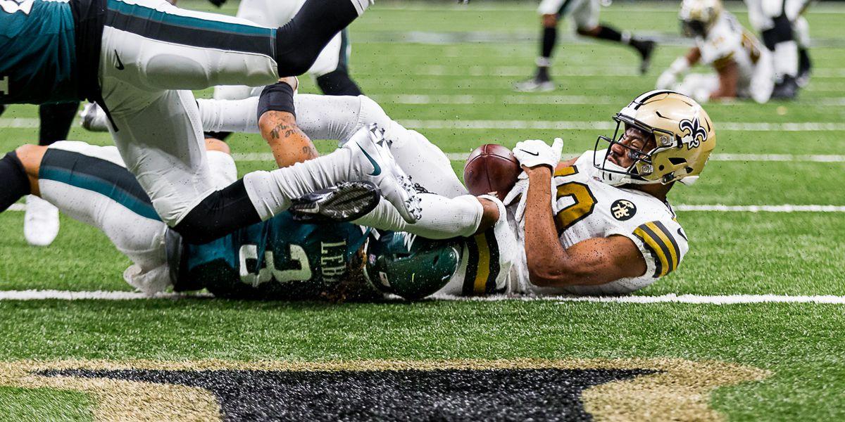 Rookies Tre'Quan Smith and Marcus Davenport questionable for Saints-Falcons