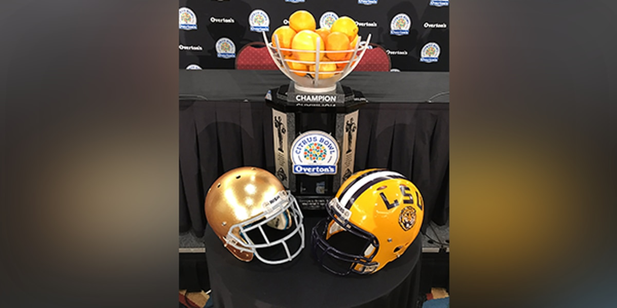 LSU, Notre Dame head coaches hold joint press conference ahead of Citrus Bowl