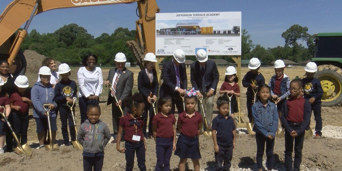 EBRPSS, architects break ground on new Jefferson Terrace Academy in Baton Rouge