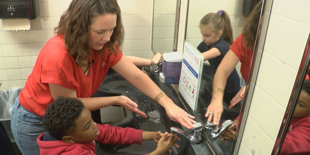 Circles + Scissors: Louisiana mom teaches new way to wash hands