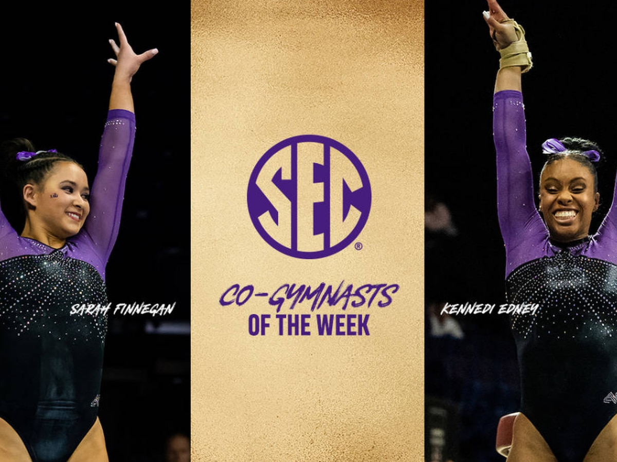 LSU's Finnegan, Edney named SEC Gymnasts of the Week