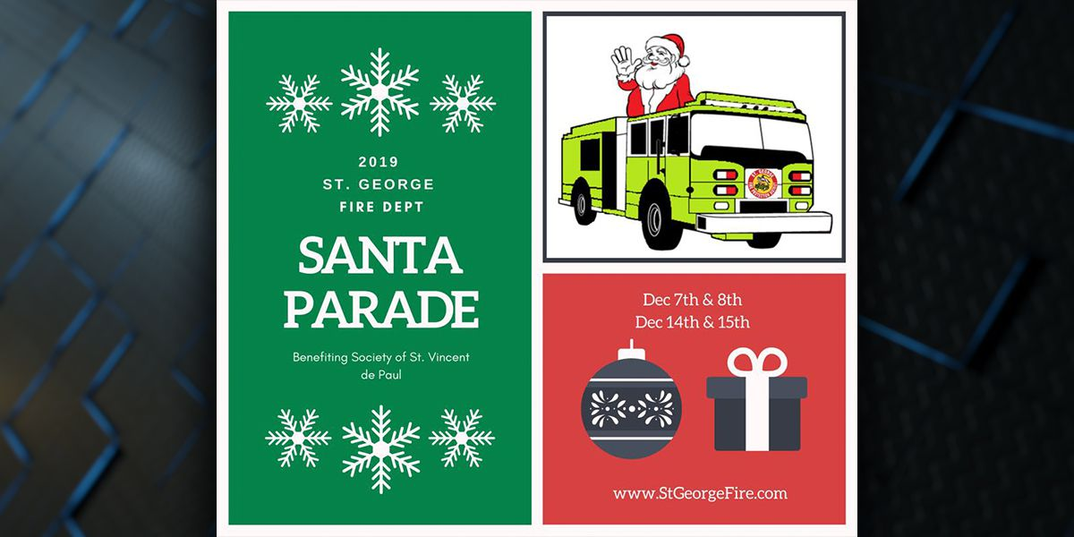 Annual Christmas parade with St. George Fire Department set for two weekends in December