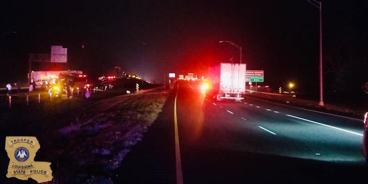 14 vehicle crash on I-10 near Whiskey Bay